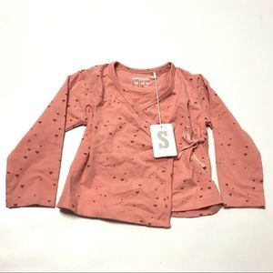 Imps And Elfs Girls Wrap Top Size 18-24M Pink